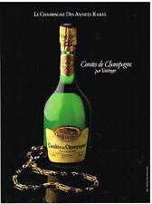 Publicité Advertising 1981 Comtes de Champagne Taittinger