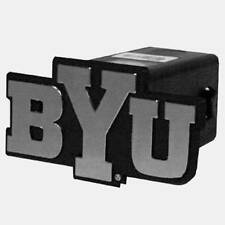 "Brigham Young Cougars Trailer Hitch Cover Class III 2"" Chrome Film & Black  BYU"