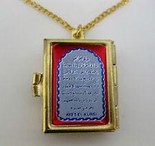 mini small Holy Quran Quraan Koran books pocket size pendant necklace gold chain