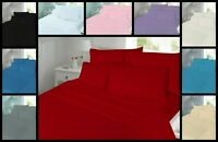 Sheet Set in Flannelette Fitted Flat with Pillowcase Single Double King Size
