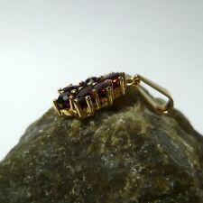 8K 333 Colgante de Collar con Granate Piedras Colgante de Oro Oro Colgante