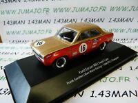 BTCC1T voiture 1/43 IXO atlas BTCC : FORD ESCORT MK1 Twin cam #16 1968 Gardner