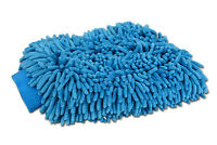 2 jumbo blue car wash washing microfiber chenille mitt cleaning glove us seller