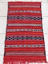 Moroccan Rug Carpet Red Color hand-woven Berber Tribal by pure material weaves