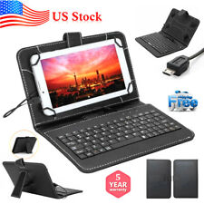 PU Leather Stand Case with Micro USB+Keyboard for 10.1 Inch Tablet PC iPad Cover