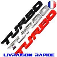 03D Métal TURBO Emblème Voiture Style Autocollant Insigne ST RS Auto Hayon Logo