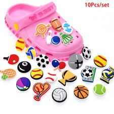 10pcs Shoe Charms Cartoon Sport Ball Shoe Buckle Decorations Fit Croc Wristb^lk