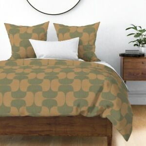 Tessellate Mod Simple Clean Line Tessellation Sateen Duvet Cover by Roostery