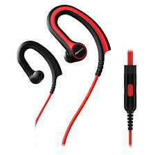 Pioneer Fully Enclosed Sports Headphones With In-line Microphone - Red