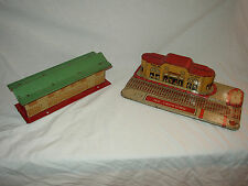 O SCALE MARX METAL UNION STATION+ HAFNER METAL STATION  LOT#W-35