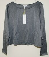 BCBGENERATION BCBG WOMENS TOP IN DARK SILVER size LARGE NEW $68