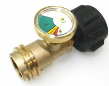 Propane Tank Gauge Gas Grill BBQ RV Pressure Adapter Meter Gauge Indicator Brass