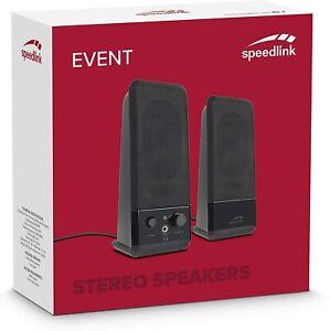 Speedlink Lautsprecher 2.0 Boxen Speaker für PC Lautsprechersystem USB-A 8004 SL