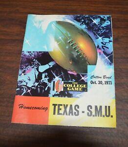SMU Mustangs 1971 NCAA football program vs Texas Longhorns Dallas Cotton Bowl