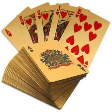 24K Oro Plateado jugando a las cartas dólar americano cubierta completa de 99.9% Puro Regalo de póquer