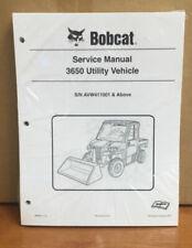 Bobcat 3650 Utility Vehicle Service Manual Shop Repair Book Part Number# 6990367