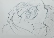 Framed Disney Production Drawing of Beast and Gaston from Beauty and the Beast