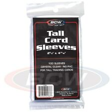 Pack of 100 BCW Tall / Widevision / Gameday Trading Card Soft Poly Sleeves