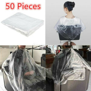 12x No Bend Perming Hair Clip + 50x Hairdressing Capes Hair Styling Gown