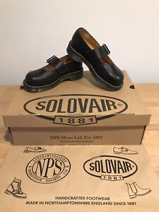 NPS SOLOVAIR Mary Jane Black Leather Strap Shoes! Size UK5! New! Only