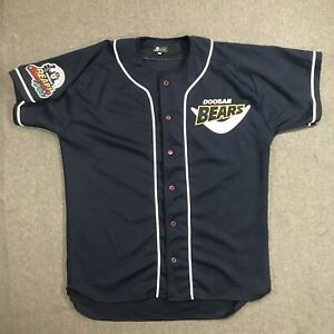VTG Doosan Bears 2001 Championship KBL Baseball Jersey Size XL Korea