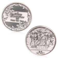 Happy New Year And Merry Christmas Commemorative Coin Collectible Collection New