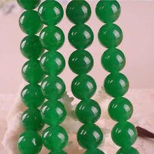 Wholesale 6mm Green Jade Gemstone Round Loose Beads 15''AAA Free shipping