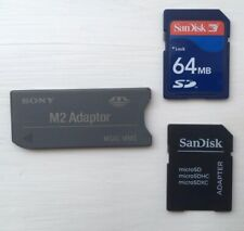 Sandisk Micro SD & Sony M2 Adaptors + 4x SD Cards