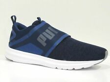 PUMA Men's authentic Enzo Strap Knit ,Blue Depths-Puma Black Sneakers, Brand New