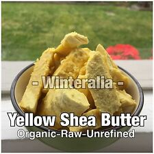 1KG - Organic Raw Unrefined Yellow Shea Butter - A Grade - Exp 31/10/2018