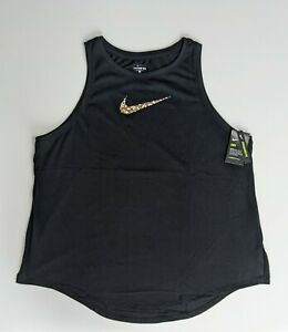 Nike Women's Athletic Training Tank Top Floral Black Size 3X NWT $30