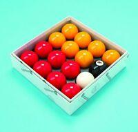 Aramith Red and Yellow 2 Inch Ball Set - Quality UK Pool Table Ball Set