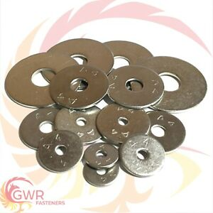 M6 PENNY WASHERS A4 STAINLESS STEEL MARINE GRADE FENDER MUDGUARD REPAIR WASHER