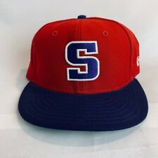 "New Era Unisex Adult Baseball Cap Red Blue Hat ""S"" Fitted 7 1/4"