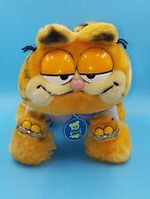 "Garfield Plush Cat in Pajamas & Slippers 12"" Stuffed Animal Dakin 1981 W/ Tag"