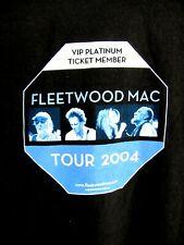 Fleetwood Mac.2004 Tour.Vip Platinum Ticket Member.T-Shirt.New.Men sz L