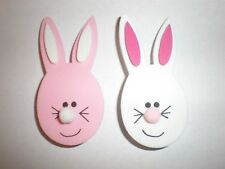 Pink bunny  and White bunny foam pin set- set of 2