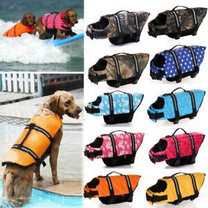 Adjustable Life Jacket Pet Dog Reflective Vest Preserver Puppy Swimming Safety K