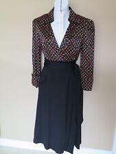 NEW Diane von Furstenberg DvF BREA Diamond Confetti Silk Wool Wrap Dress 6 8