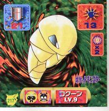POKEMON STICKER Carte JAPANESE 50X50 1997 NORM@L N° 217 KAKUNA COCONFORT