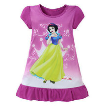 Lovely Kids Girls Children Cartoon Mermaid Short Sleeve Princess Casual Dress T