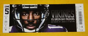 Minnesota Vikings Ticket Stub October 27 2013 | Aaron Rodgers 2 TD Jordy Nelson