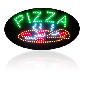 Bright LED Shop Signs SUSHI BOBA MANCAVE BAR PIZZA COFFEE WE DELIVER TAKE OUT