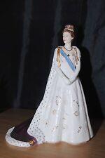 Royal Worcester Royal Highness Princess Margaret In Coronation Robes Figurine