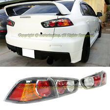 For 08-15 Lancer EVO X Facelift Style Rear Bumper Conversion Tail Light Lamp 4PC