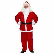 XXL Santa Suit Velour look Regal Plush 5 PC Father Christmas Fancy Dress Costume