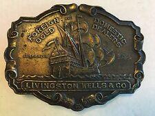 Vintage Livingston Wells & Co Belt Buckle