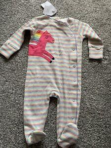 Baby Girls Unicorn Babygrow NEXT 3-6 Months BNWT