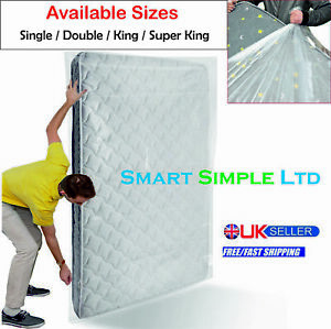 Heavy Duty Bed Mattress Bag Dust Protection Storage Polythene Moving Plastic DIY