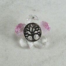 DLM26662-rosa Calamita Magnete Margherita Fiore in cristallo con Albero della Vi